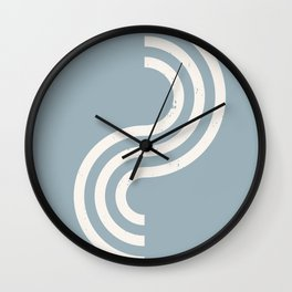 Geometry - minimalist drawing print - Mid century modern, mid-century wall art, print, geometric wal Wall Clock