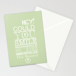 Could you smile? Stationery Cards