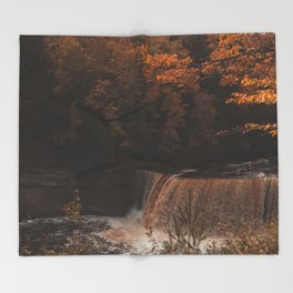 Tahquamenon Falls Throw Blanket