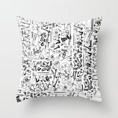 Hardware Black Throw Pillow