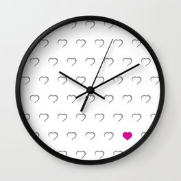 Hearts - Pink Wall Clock
