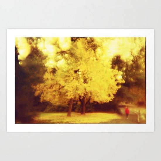 golden fall Art Print