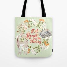 Eat, Read & Be Merry - Deer Tote Bag
