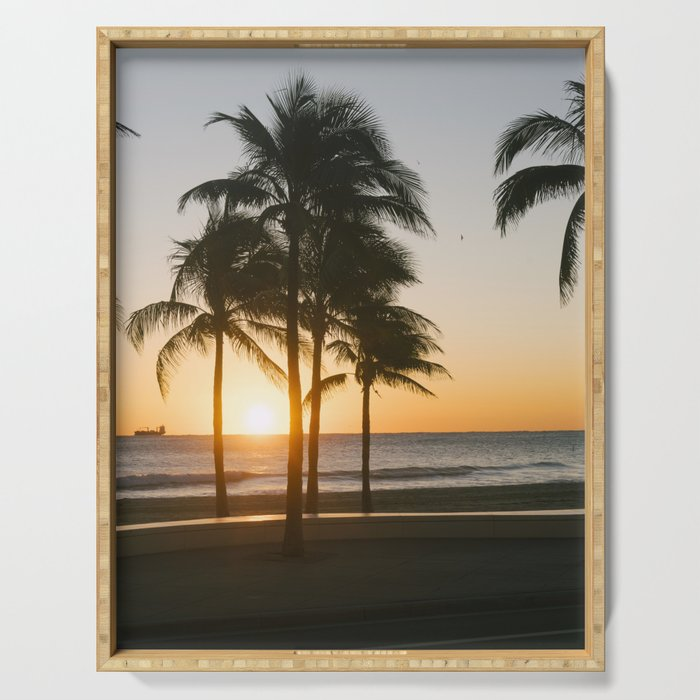 Fort Lauderdale At Sunrise Serving Tray By Filippobacci