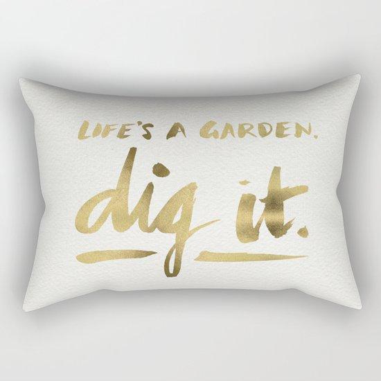 Dig It – Gold Ink Rectangular Pillow