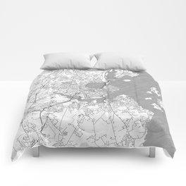 Portland Maine Map Line Comforters