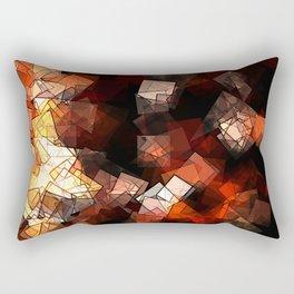 square fantasy in flames Rectangular Pillow