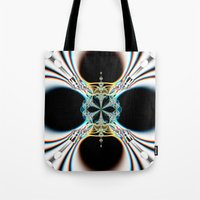 mod Tote Bags featuring mod by Maureen Popdan