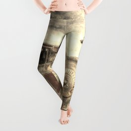 Steam Lorry And Traction Engine Vintage Leggings