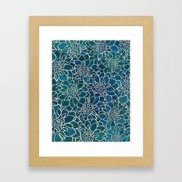 Dahlia Flower Pattern Framed Art Print
