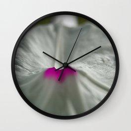 White Flower Macro Wall Clock