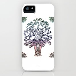 Indian Elephant Tree Of Life iPhone Case