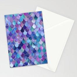 Mermaid Art, Purple, Pink, Teal, Blue, Green Stationery Cards