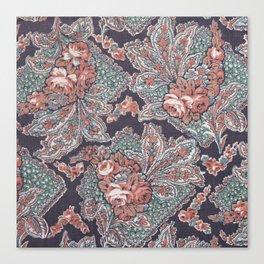 Vintage Floral Pattern Canvas Print