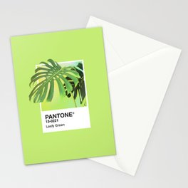 PANTONE SERIES – LEAFY GREEN Stationery Cards