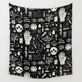 Curiosities: Bone Black Wall Tapestry