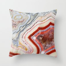 Marble Red Throw Pillow