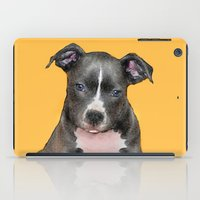 pitbull iPad Cases featuring Pitbull puppy by ritmo boxer designs