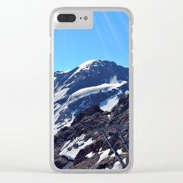 glacier end 3 kaunertal alps tyrol austria europe Clear iPhone Case