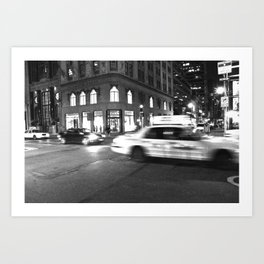 Cab City Noir Art Print