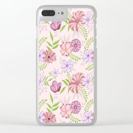 Flowers dancing around Clear iPhone Case
