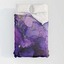 Violet Magenta Chrome - Abstract Ink Comforters