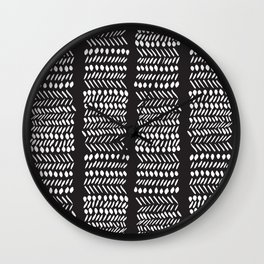 Modern Mud Cloth 3 Wall Clock