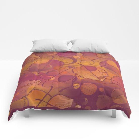 Floating Autumn Leaves Comforters