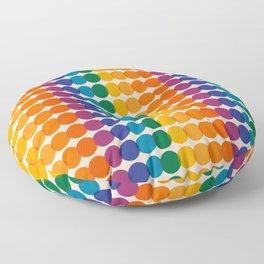 Rainbow Overprint Floor Pillow