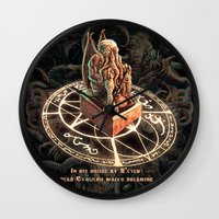 cthulhu Wall Clocks featuring Cthulhu by TheMagicWarrior