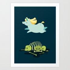 Chubbycorn Art Print