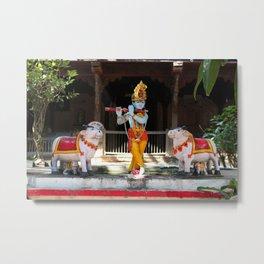 God Krishna  Metal Print