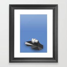 Keep your head down Framed Art Print