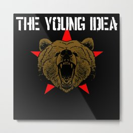 The Young Idea - Grizzly Logo II Metal Print