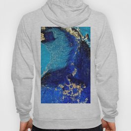 BLUE AND GOLD MARBLE TEXTURE Hoody