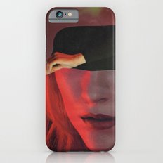 Abstract Profile In Red Slim Case iPhone 6s