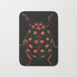 Insecte rouge et noir colors fashion Jacob's Paris Bath Mat