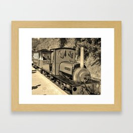 STEAM LOCOMOTIVE COVERTCOAT IN SEPIA CORNWALL Framed Art Print