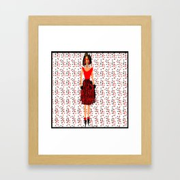 RED by Kimberly J Graphics Framed Art Print