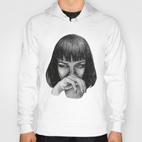 mia wallace Hoodies featuring Mia Wallace by Rebecca Hådell