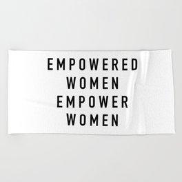 Empowered Women Beach Towel