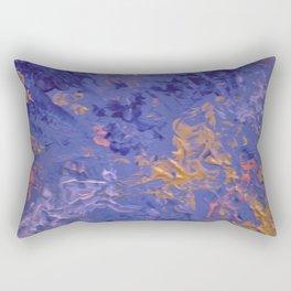 Purple and golden waves Rectangular Pillow