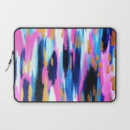 Spring Golden - Pink and Navy Abstract Laptop Sleeve
