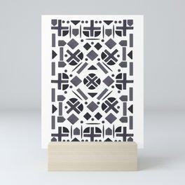 MonoTone Shape Pattern Mini Art Print
