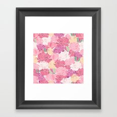 Rose Peony Flowers Framed Art Print