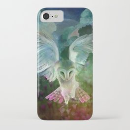 """Owl flight and spring night"" iPhone Case"
