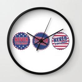 Never Trump (Triple) Wall Clock