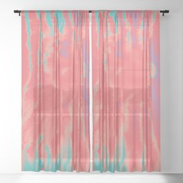 summer sultry Sheer Curtain