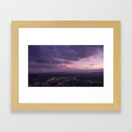 Asheville Stormy Nights Passing By Framed Art Print