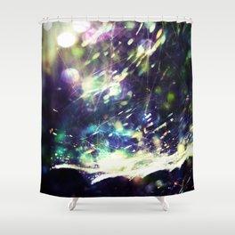 Blue Purple Web Shower Curtain